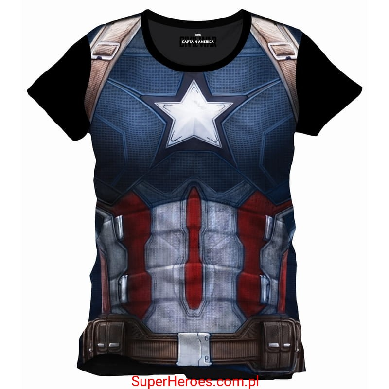 93c23cc6c Koszulka kompresyjna Captain America - SuperHeroes.com.pl