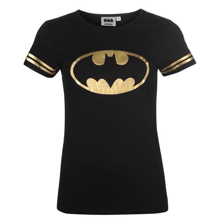 2fa71f7632aa23 Damska koszulka Batman w złocie - SuperHeroes.com.pl