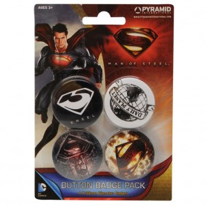 Badge Superman - Man of Steel